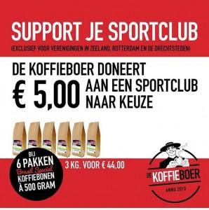 Steun je sportclub